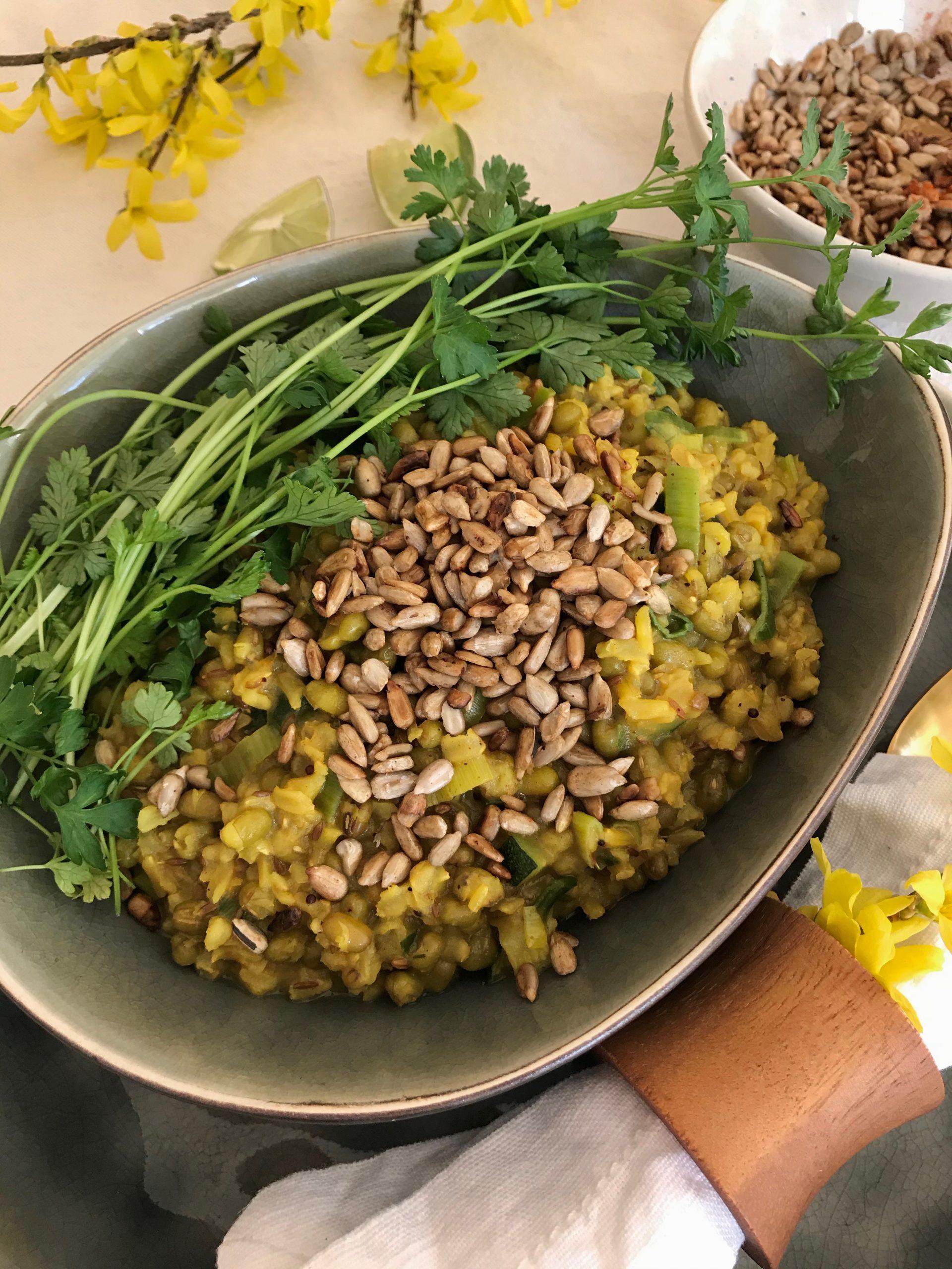 Ayurveda mung bean kapha kitchadi recipe