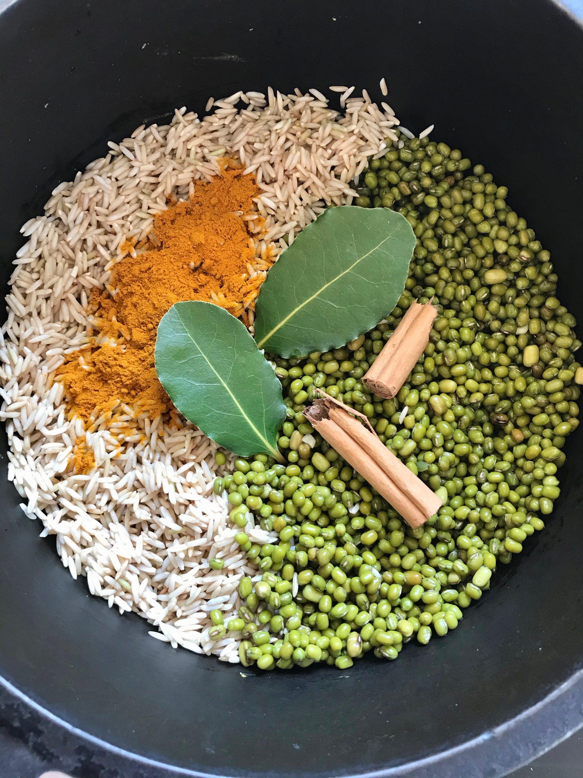Mung bean kitchari